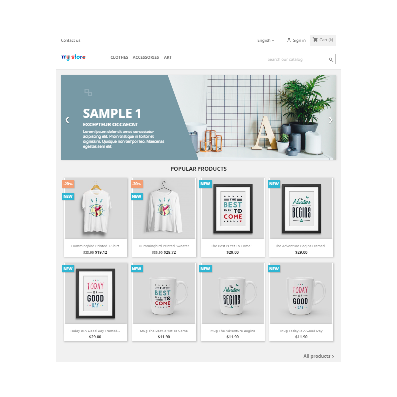 Manageable Online Store