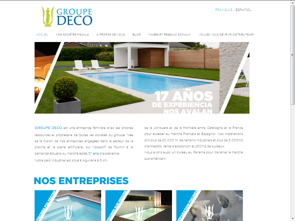 Vista de la web de Groupe Deco